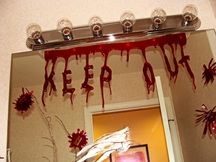 those halloween gels work great on bathroom mirrors too design dna halloween party - Halloween Party At Work
