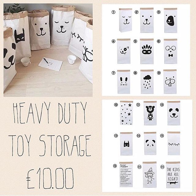 Toy Storage #paperbag #heavyduty #toystorage #toys #homewear #storage #modernstorage #thickpaper #cute #kids #nursery #bedroom #lounge #playroom #perfect