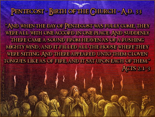 events of pentecost in order