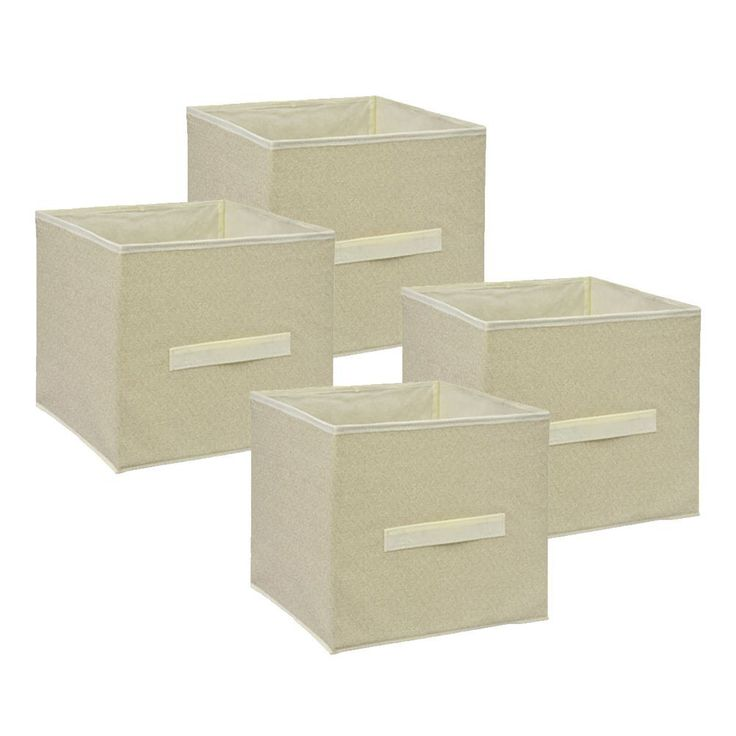 Small Collapsible Storage Cube   4 Pack Set Collapsible Storage Trunks U0026  Containers   Fabric Pull
