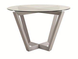 Round glass garden table EMILY | Aluminium garden table - Efasma