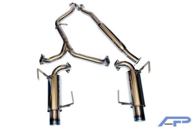 Agency Power 2008+ Subaru WRX (Sedan) Stainless Steel Dual CatBack Exhaust System with Titanium Tip
