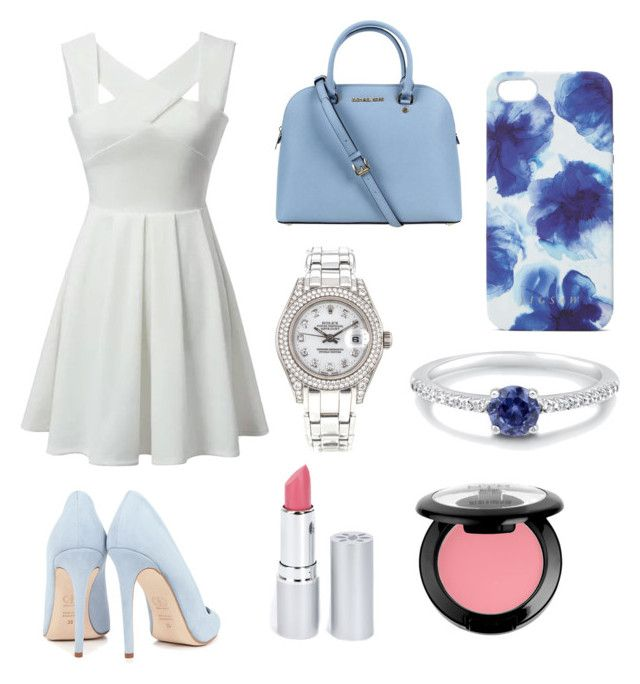 """Cloudy Day"" by harpergreyc on Polyvore featuring Dee Keller, Michael Kors, Jigsaw, Rolex, BERRICLE, HoneyBee Gardens and NYX"