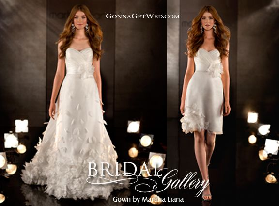 Check Out This Convertible Wedding Dress Long For The Ceremony Short For The Receptionall