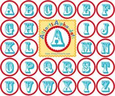 Fun printable alphabet circles for banner making from Jenny at Allsorts (via One Pretty Thing).