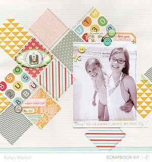 'Summer Bucket List' Layout by Robyn Werlich using the July Kits at @Gail Mounier Calico