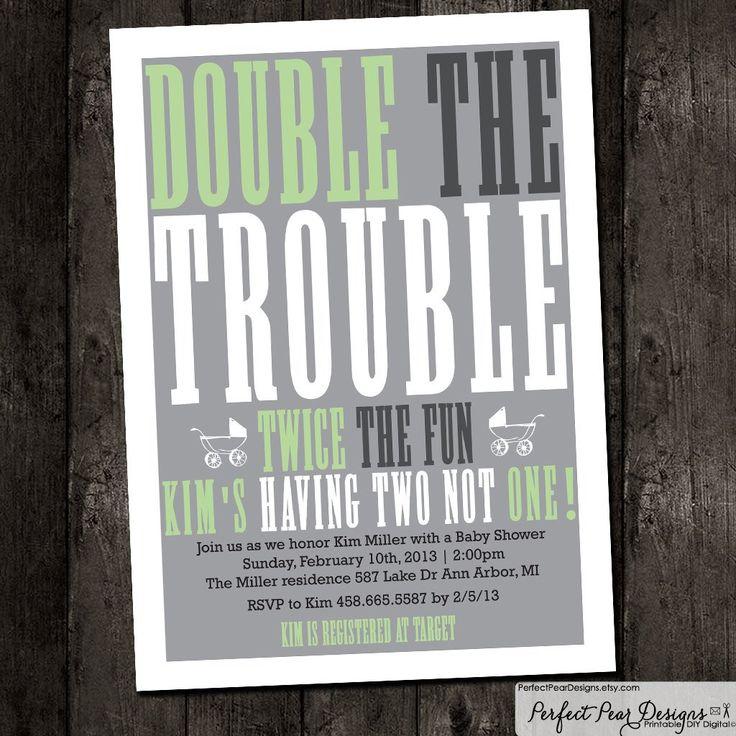 Twins Baby Shower Invitation boy twins by