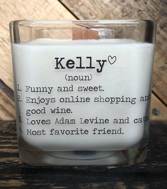 An Elegant Soy Candle With A Special Personalized Name Definition This Is Wonderful Way To Give Your Friend Gift