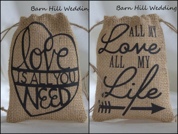 Wedding Favor Bags Sets of 10 20 30 40 50 by BarnHillWeddingDecor