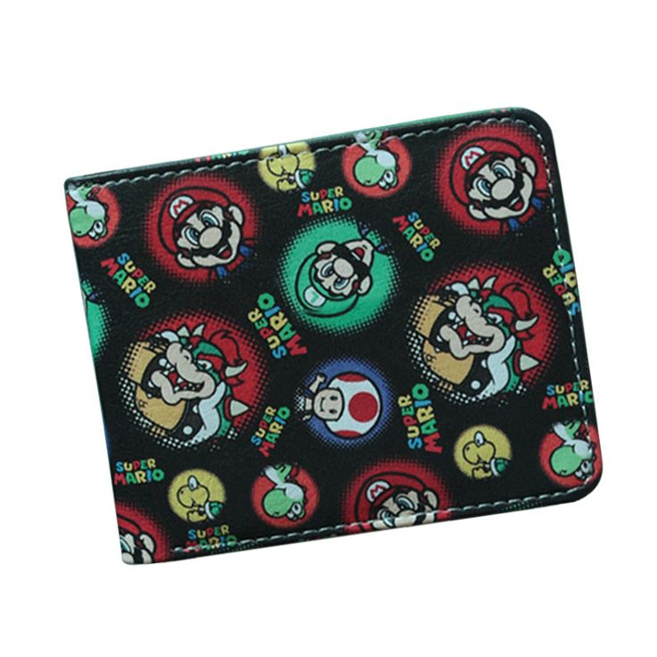 SUPER MARIO WORLD Wallets Cute Cartoon Comics Purse Student Short Game Wallet Coin Bag Credit Card Holder Anime Wallet For Teens