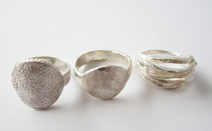sterling silver rings,made by jennifer laracy