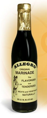 Allegro Marinade - Original Marinade The best marinade - I fixed lamb chops with this once that made me try and eat thru the bone. It's good stuff people