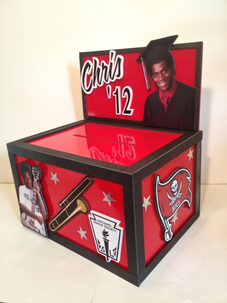 Themed Gift Box Ideas : Best images about graduation party card boxes on