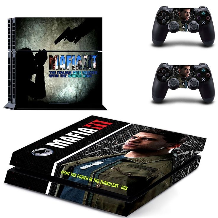mafia 3 ps4 skin decal for console and controllers