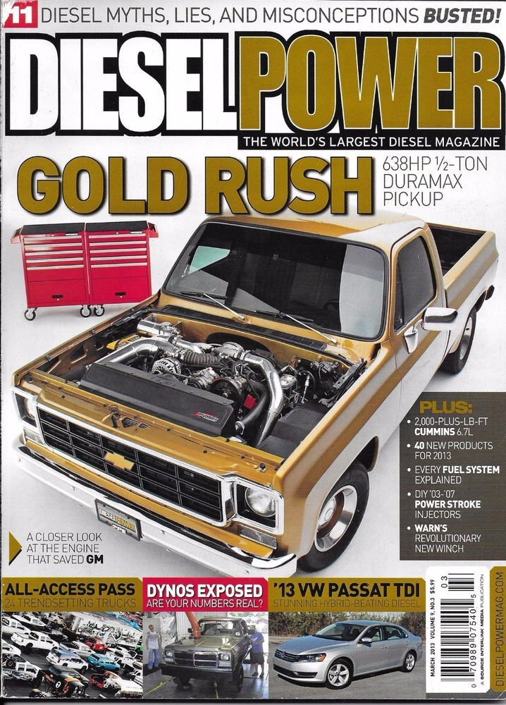 Diesel Power magazine Duramax truck pickup Dynos VW Passat TDI Fuel Systems