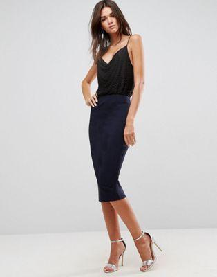 Falda de tubo de talle alto de ASOS