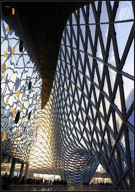 My Zeil, Shopping Mall. Frankfurt, Germany #architecture