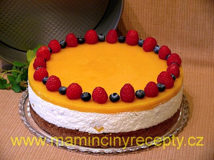 Mangový dort