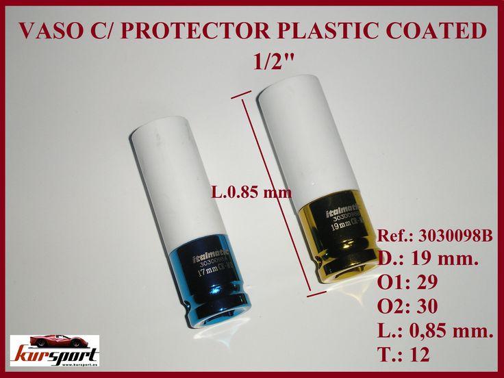 vasos de impacto de 17 y 19 mmm  con protector plastic coated para llantas de aluminio