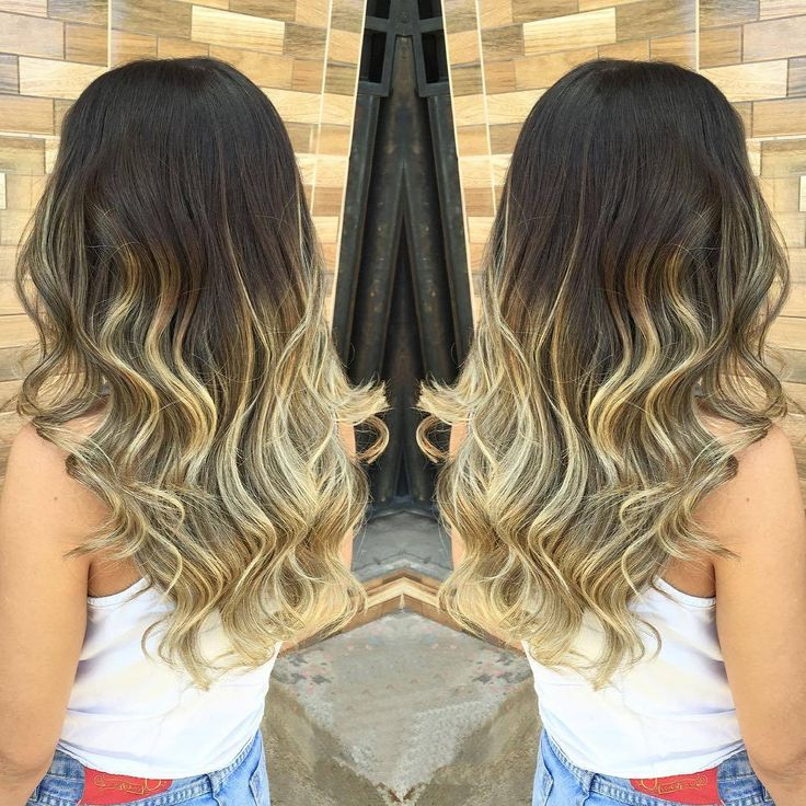 nice Модное окрашивание омбре на длинные волосы (50 фото) — Покраска темных и светлых локонов