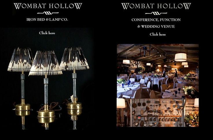 Wombat Hollow : Michael Yabsley  - this is the venue where you can do the glamping and would also be great to do some of the horse work etc