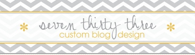seven thirty three - - - custom blog design