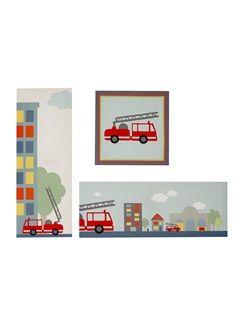 D coration and shops on pinterest - Chambre enfant pompier ...