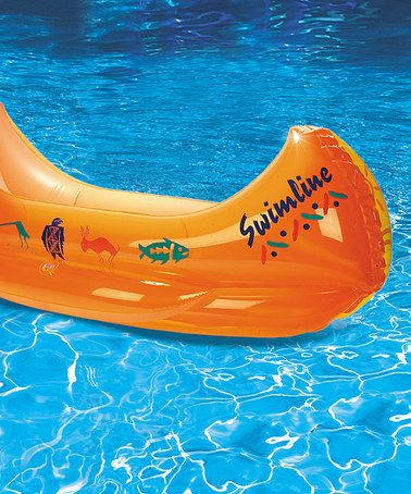 inflatable canoe, this would be great to fill with ice to serve cold foods for a buffet, or chill drink cans