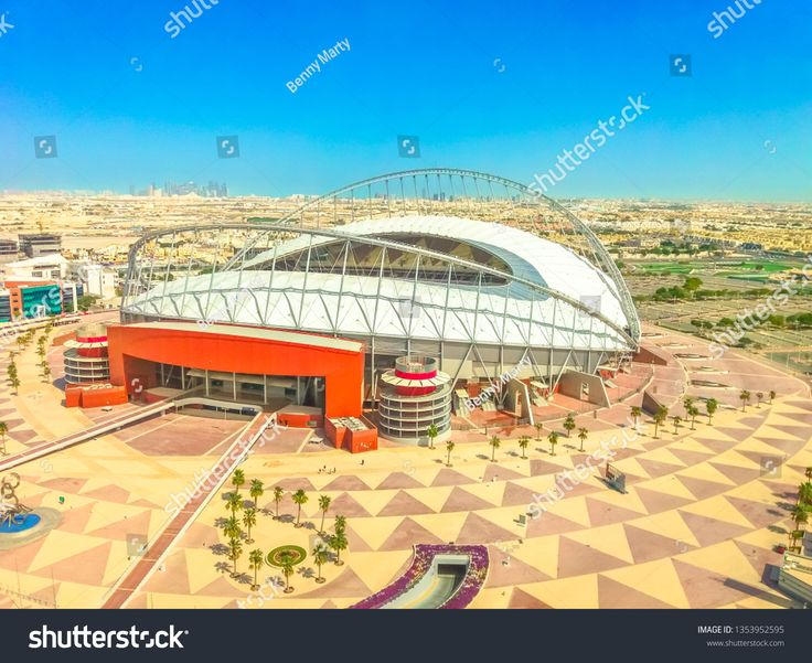 Doha Qatar February 21 2019 Aerial View Of Khalifa International Stadium Or National Stadium Qatar 2022 Fifa World Cup National Stadium Football Stadiums