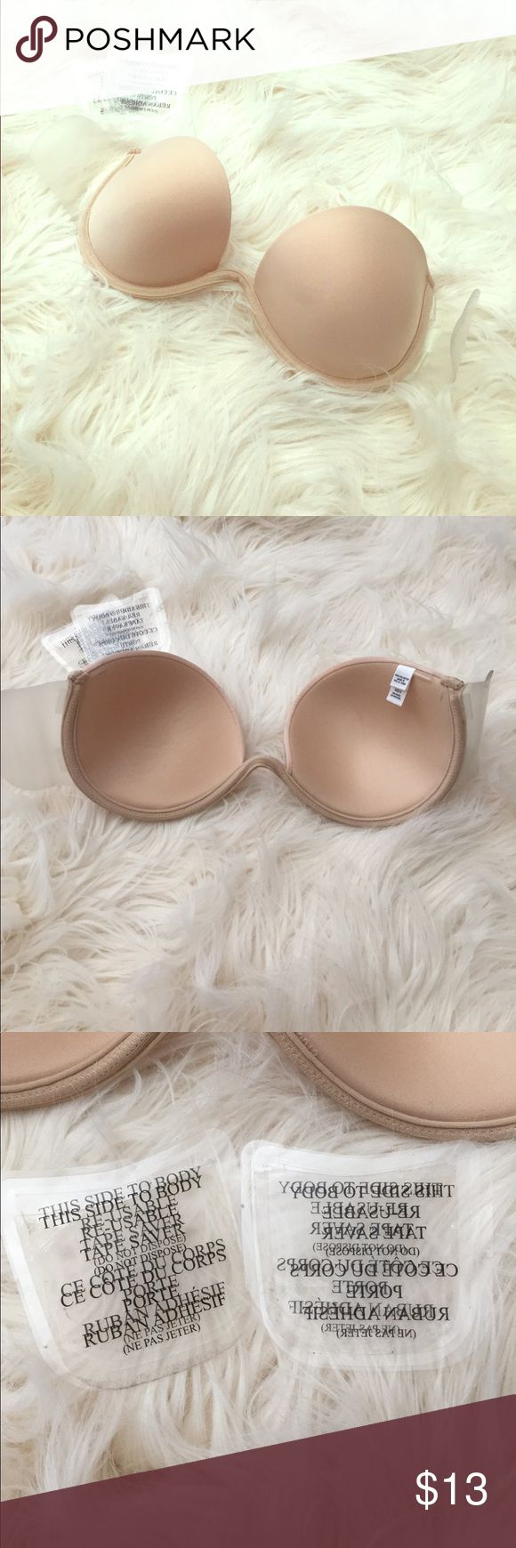 Backless adhesive bra For those sexy backless dresses! Bra itself used only once, and old adhesive strips have been removed and BRAND NEW body adhesive strips are included. These bras are normally really expensive- grab it at a great price! Intimates & Sleepwear Bras