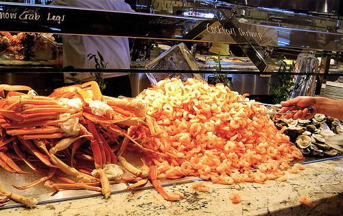 "Wynn Buffet for lunch and dinner! Don't miss the HUGE crab legs or the scrumptious dessert ""room"""