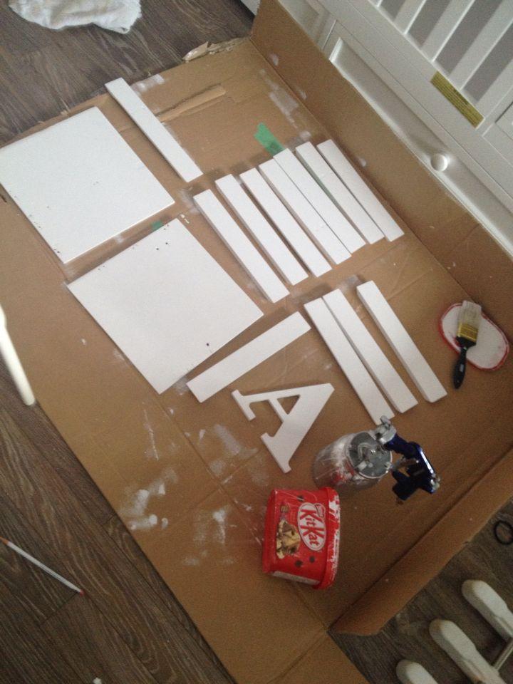 Pintando molduras