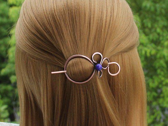 2x Frauen Metall Perle Haar Pin Haarspange Clip Side Haarnadel Haar Zubehör Neu