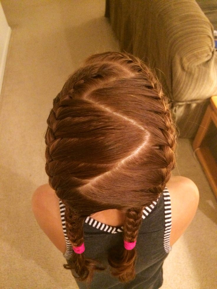 28 best gymnastics hairstyles images on pinterest gymnastics zig zag pigtail french braids ccuart Images