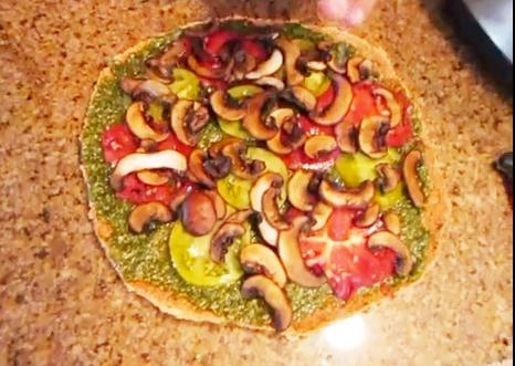 Raw Vegan Pesto Pizza Recipe Video by TheRawFoodMuscle | ifood.tv