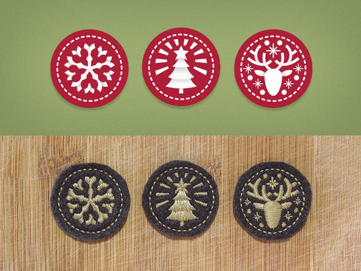 Xmas Embroidery Patches