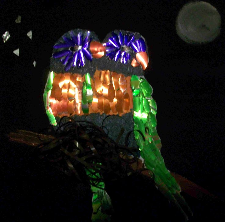 Lorikeets Moonlighting ( made from aluminium cans - Available )