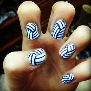 Volleyball Nails? Yes please!
