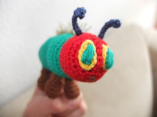 Free Crochet Pattern Very Hungry Caterpillar : Ravelry: Fingerpuppe Raupe Nimmersatt pattern by Brigitte ...