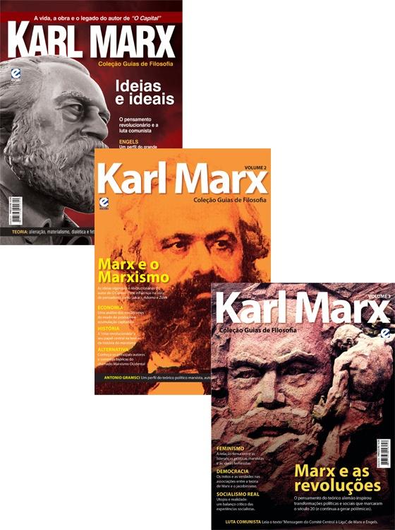 """Este pacote contêm:      1. - Coleção Guias de Filosofia Karl Marx  A vida, a obra e o legado do autor de """"O Capital"""".    2. - Coleção Guias de Filosofia Karl Marx - Edição Nº 2  Coleção Guias de Filosofia traz Karl Marx e o Marxismo!    3. - Coleção Guias de Filosofia Karl Marx - Edição Nº 3  Marx e as Revoluções - Pensamento do Teórico Alemão que inspirou transformações políticas e sociais!    Adquira já o seu!"""