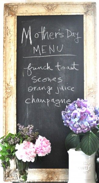 A vintage chalk board for the french inspired kitchen