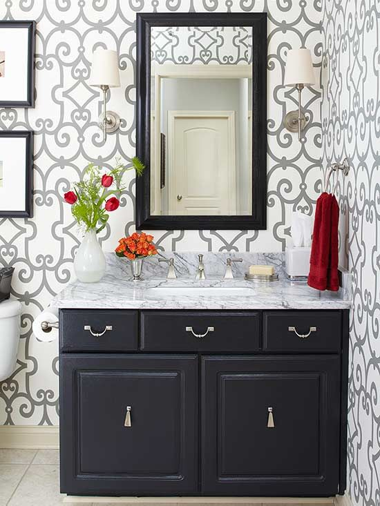Forget about remodeling. Give tired bathrooms a stylish lift for just a few bucks by painting cabinetry. Follow our instructions for painting bathroom cabinets, and get a fresh look in no time.