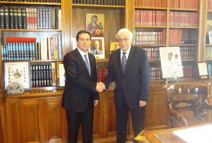 Συνάντηση με τον Πρόεδρο της Δημοκρατίας, κ. Προκόπη Παυλόπουλο - http://goo.gl/Y1rPkh