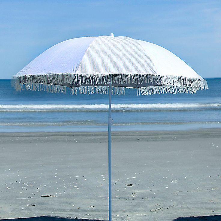 So chic..Printed Beach Umbrella in Outdoor Living FURNITURE + ACCENTS Beach + Patio at Terrain