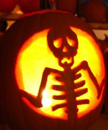 ☆ Skeleton Pumpkin Carving ☆