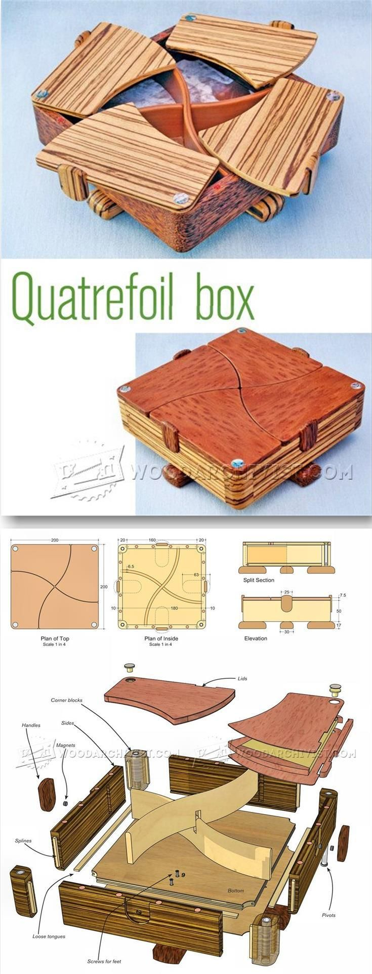 Complex Box Plans - Woodworking Plans and Projects | WoodArchivist.com