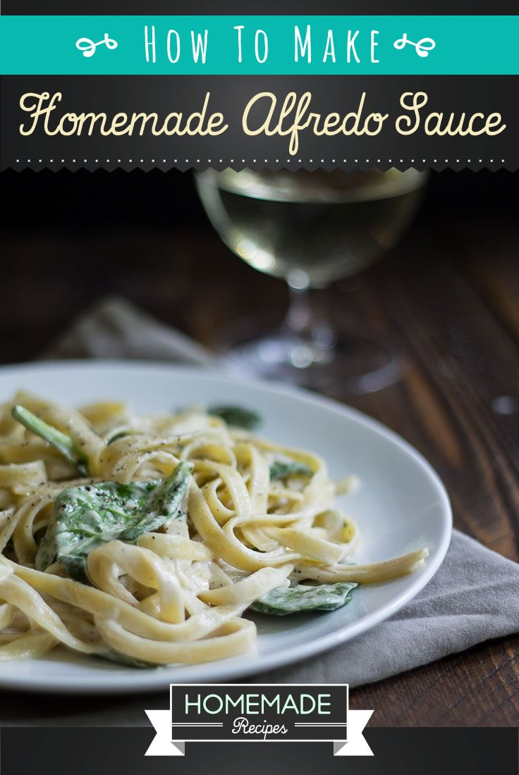 Homemade Alfredo Sauce Recipe | Learn How to Make a Creamy and Tasty Pasta Sauce, using some Few and Simple Ingredients. See full tutorial at http://homemaderecipes.com/homemade-alfredo-sauce-recipe/