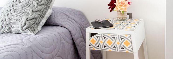 "DIY vintage style table ""hydraulic tile"""