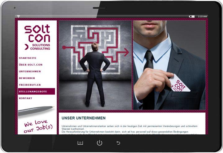 Website, individuell: Individuelle Website für einen Stuttgarter Personalbetrieb für die Vermittlung akademischer Positionen - mehr: http://fb.rami.de