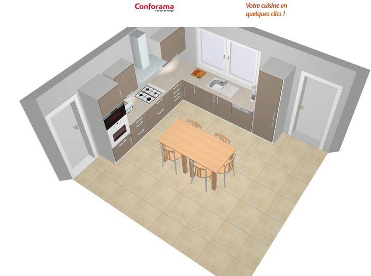 8 plans de cuisines pour une pièce carrée - Cuisine Plus - Cuisine